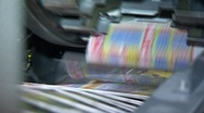 Stock Video Footage of Printing newspapers 5