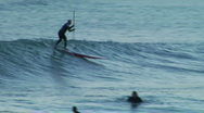 Stock Video Footage of Longboard Paddle Surf 5