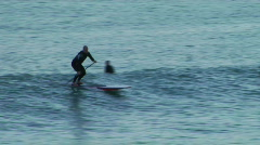 Longboard Surf False Alarm Stock Footage