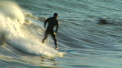 Small Surge Engulfs Surfer Stock Footage