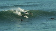 Stock Video Footage of Surf And Backflop!
