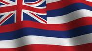 Stock Video Footage of Hawaii state flag - seamless loop