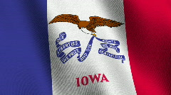 Iowa state flag - seamless loop Stock Footage