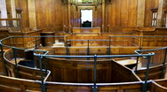 Stock Video Footage of crown court room with judges chair