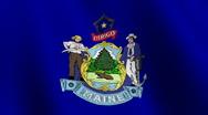 Maine state flag - seamless loop Stock Footage