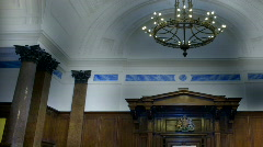 ornate crown court room 2 - stock footage