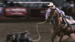 Cowboy roper  Stock Footage