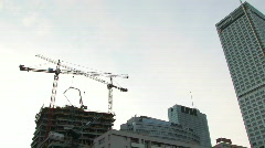 Building site in the centre of Warsaw 2 Stock Footage