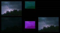 Night flashes montage - lightning vfx Stock Footage