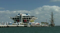 The Pier in St. Petersburg and Tampa Bay Florida Stock Footage