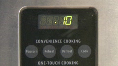 Microwave Timer Stock Footage