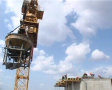 Concrete pouring 01 Stock Footage