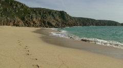 Porthcurno beach. Stock Footage