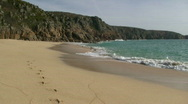 Porthcurno beach. Stock Footage
