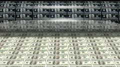 Money Printing 100 Dollar Bills Stock Footage