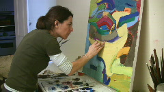 Artist working in the studio. Stock Footage