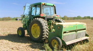 Farmer Sowing Seed Stock Footage