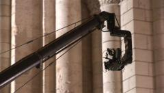 Crane with camera 35mm in a church - Making of movie - stock footage