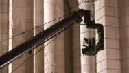 Crane with camera 35mm in a church - Making of movie Stock Footage