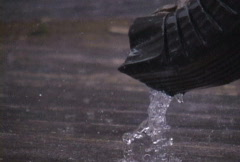 Rain and Gutter - stock footage