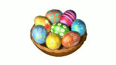 Easter Basket Stock Footage