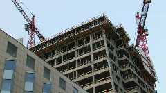 Office space building site 1 Stock Footage