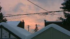 Suburban Sunset. Winter. Stock Footage