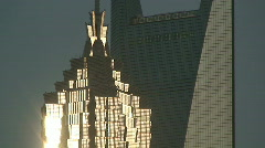 Grand Shanghai Skyscrapers In Afternoon Sun Stock Footage
