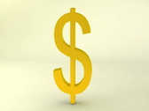 Stock Video Footage of Rotating gold dollar sign, loopable
