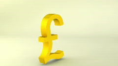Rotating gold pound sign, loopable Stock Footage