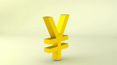 Rotating gold yen sign, loopable Stock Footage