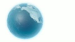 blue globe HD - stock footage