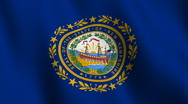 New Hampshire state flag - seamless loop Stock Footage