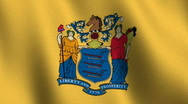New Jersey state flag - seamless loop Stock Footage