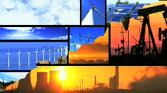 Energy choice montage Stock Footage