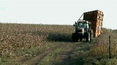 Cotton field tracktor Stock Footage