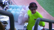 Cotton Candy Ballpark Vendor 02 Stock Footage