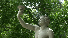 Bacchus sculpture, 2 clips Stock Footage