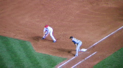 Baseball Runner Steals Second Stock Footage