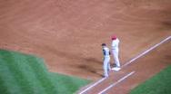 Baseball Runner Steals Second Stock Footage