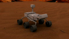 555 mars rover - stock footage