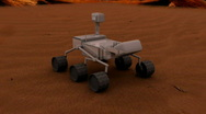 Stock Video Footage of 555 mars rover
