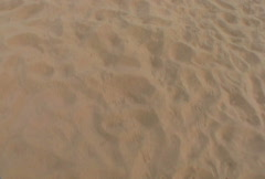 Point of View Walking on Sand Stock Footage