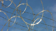 Barbed wire. Timelapse clouds. Stock Footage