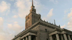 Warsaw - Palace of Culture 1 Stock Footage