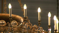 Stock Video Footage of HD1080i Big luxurious chandelier