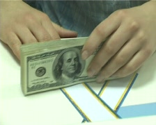 Dollars packing Stock Footage
