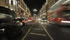 Regent Street at night, London - stock footage
