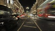 Regent Street at night, London Stock Footage