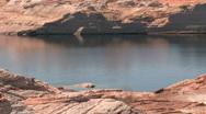 Stock Video Footage of Lake Powell Arizona fishing boat P HD
